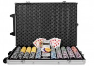 Poker set 1000 ks žetonů OCEAN Trolley